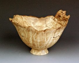 Jerry Kermode Wooden Bowl - Maple Natural Edge Bowl