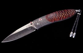 William Henry Limited Edition B05 Red Wave Knife