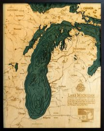 Bathymetric Map Lake Michigan
