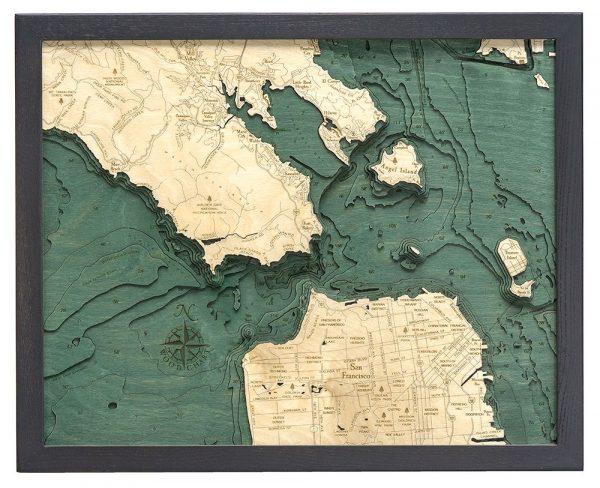 Bathymetric Map Golden Gate San Francisco, California