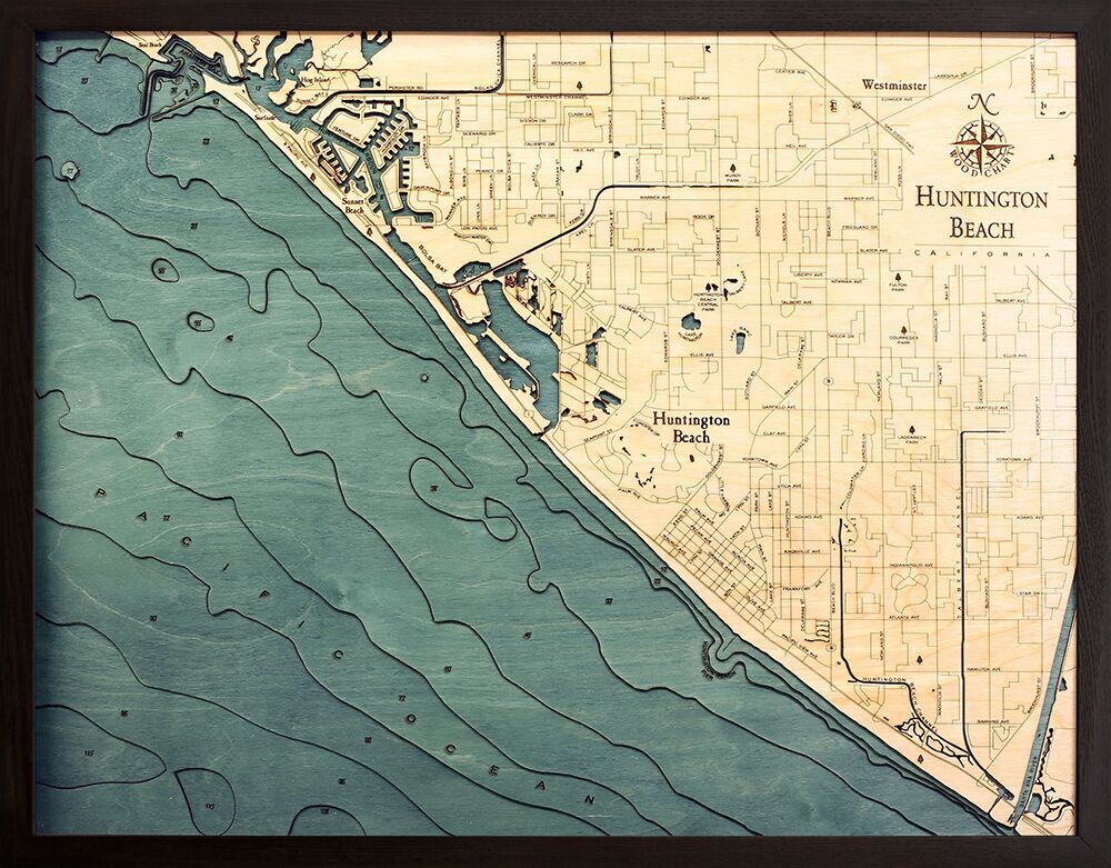 Bathymetric Map Huntington Beach, California