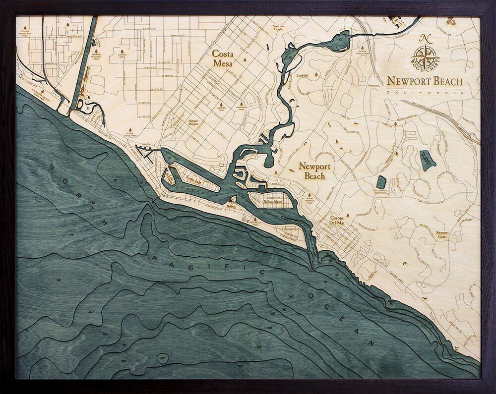 Bathymetric Map Newport Beach, California
