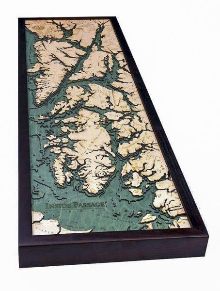 Bathymetric Map Alaska's Inside Passage