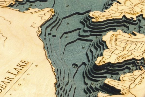Bathymetric Map Big Bear Lake, California