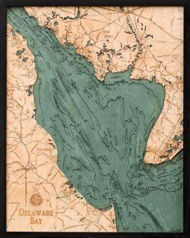 Bathymetric Map Delaware Bay