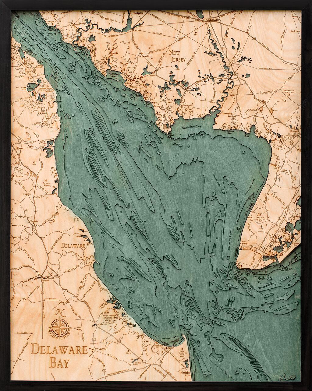 Bathymetric Map Delaware Bay