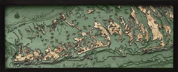 Bathymetric Map Florida Keys