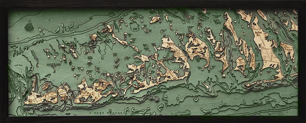 Map Florida Keys.Bathymetric Map Florida Keys Scrimshaw Gallery