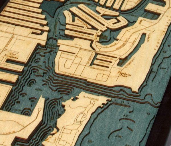 Bathymetric Map Ft. Lauderdale, Florida