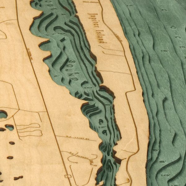 Bathymetric Map Jupiter Island, Florida
