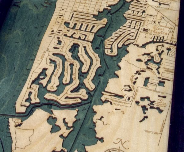 Bathymetric Map Naples, Florida