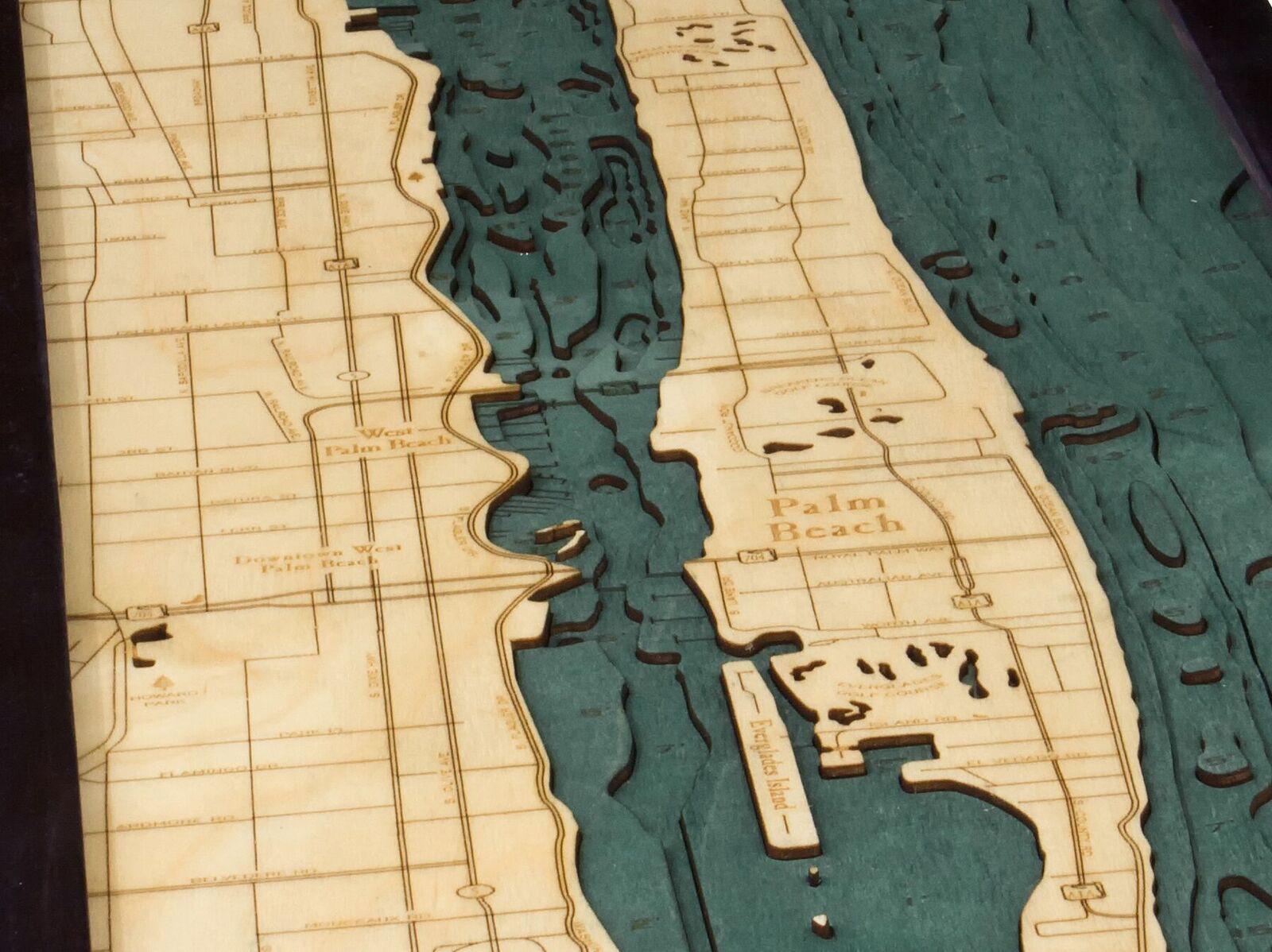 Map Of Palm Beach Florida.Bathymetric Map Palm Beach Florida Scrimshaw Gallery