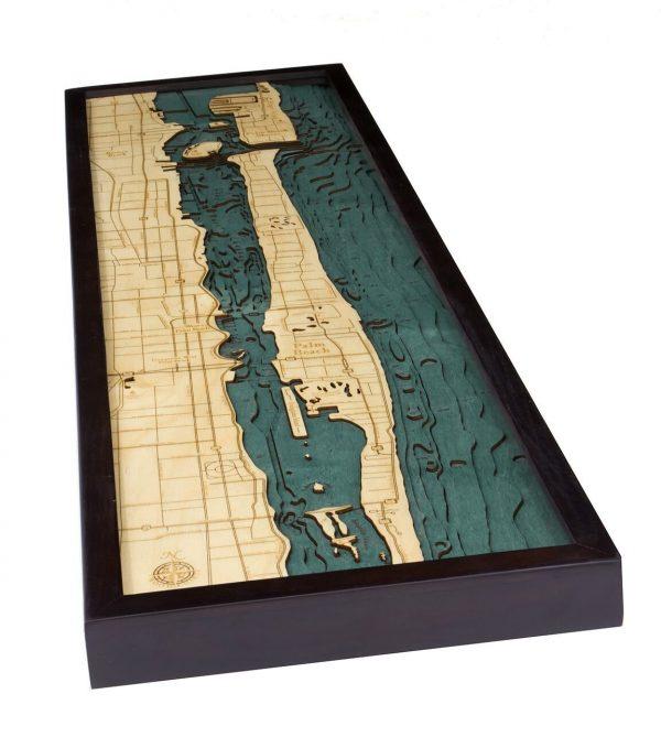 Bathymetric Map Palm Beach, Florida