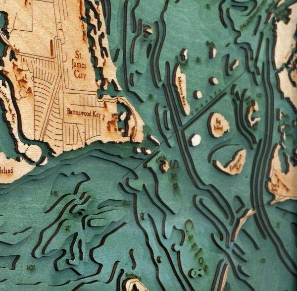 Bathymetric Map Sanibel Island & Pine Island, Florida
