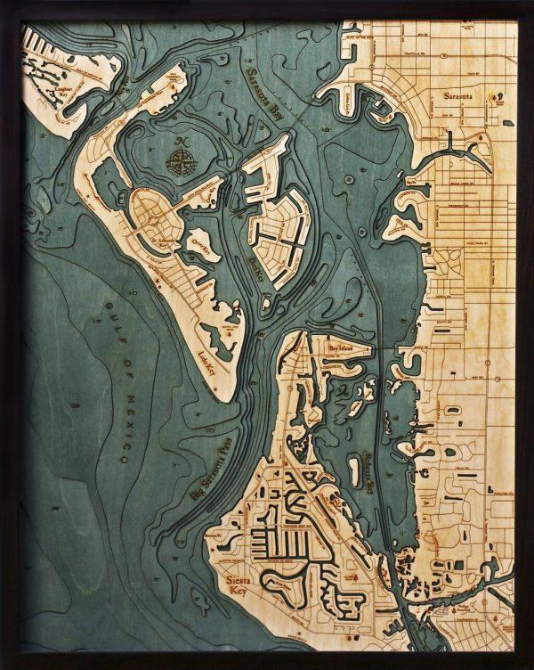 Bathymetric Map Siesta Key, Florida