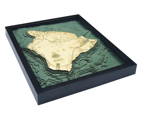 Bathymetric Map Hawaii (The Big Island)