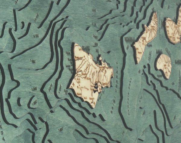 Bathymetric Map Hawaiian Islands