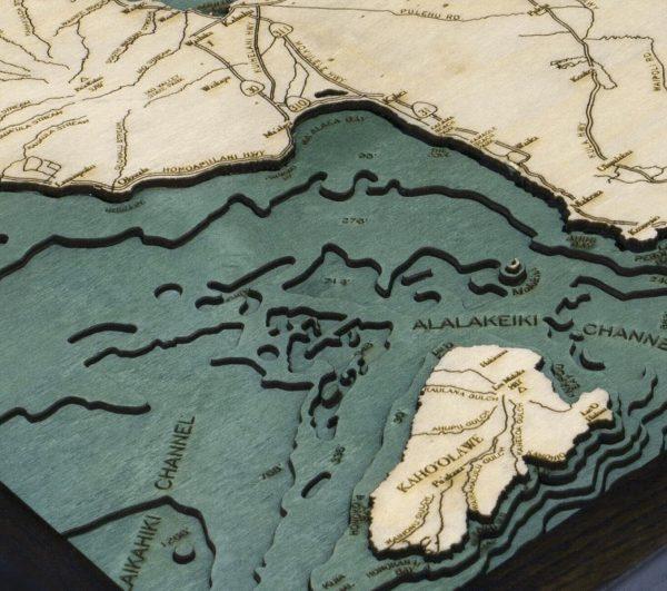 Bathymetric Map Maui, Hawaii