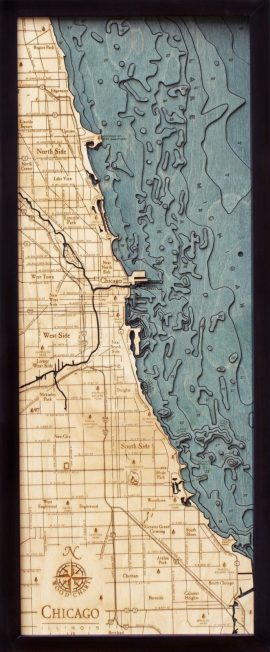 Bathymetric Map Chicago, Illinois