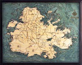 Bathymetric Map Antigua