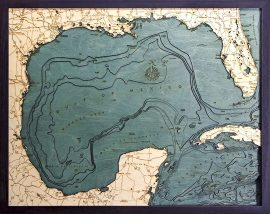 Bathymetric Map Gulf of Mexico