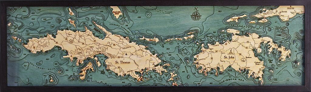 Bathymetric Map Virgin Islands