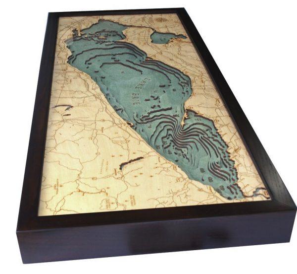 Bathymetric Map Lake Erie