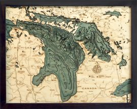 Bathymetric Map Lake Huron, Michigan