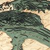 Bathymetric Map Lake Huron, Michigan