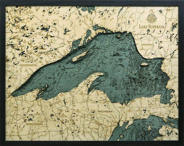 Bathymetric Map Lake Superior