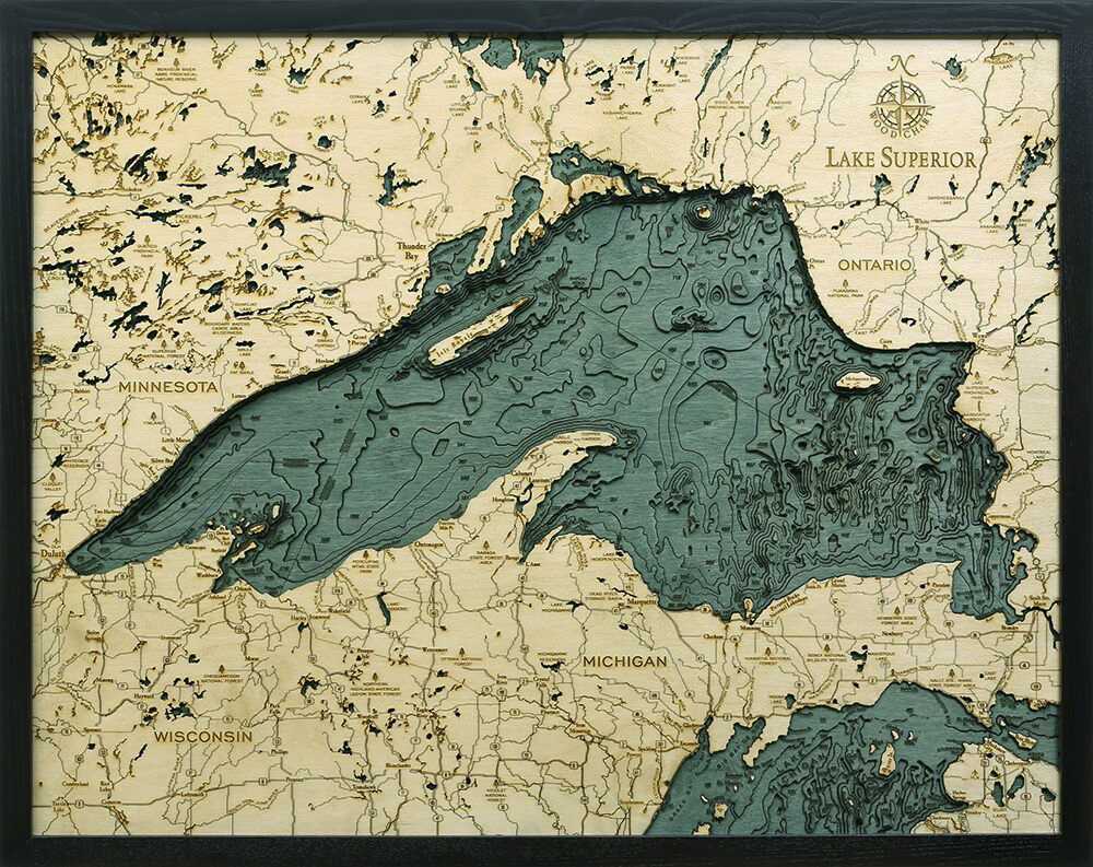 Bathymetric Map Lake Superior