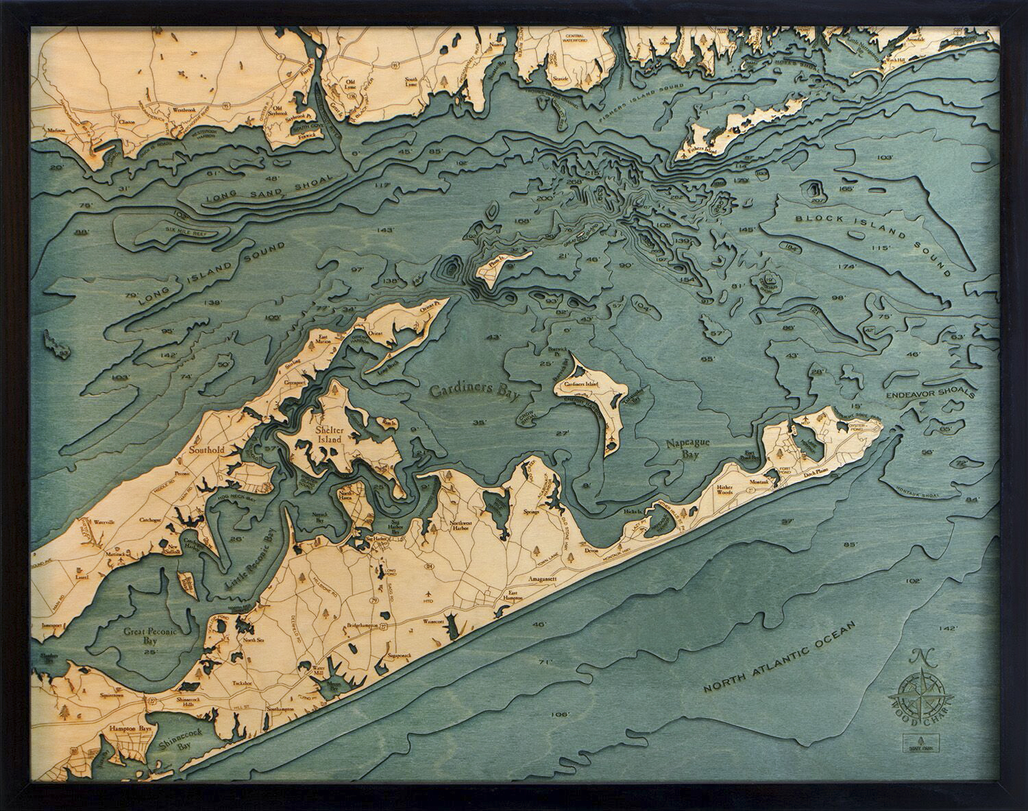 Bathymetric Map Long Island Sound