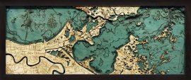Bathymetric Map New Orleans, Louisiana