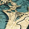 Bathymetric Map New Orleans, Louisiana