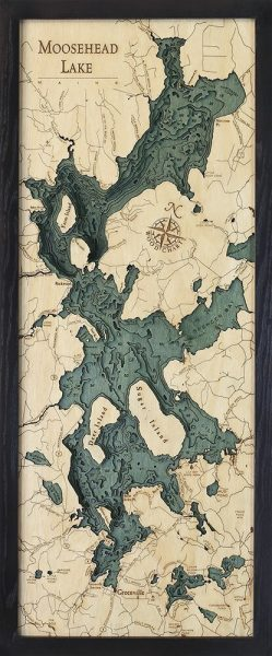 Bathymetric Map Moosehead Lake, Maine