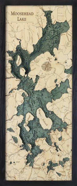 Bathymetric Map Moosehead Lake, Maine