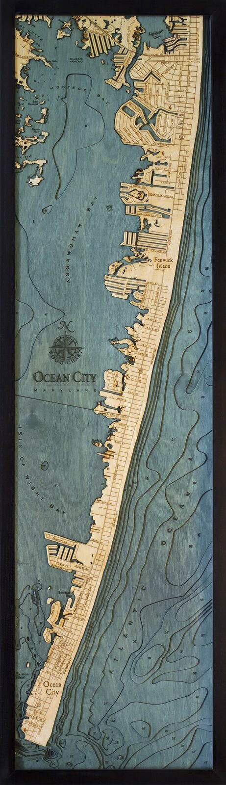 Bathymetric Map Ocean City, Maryland