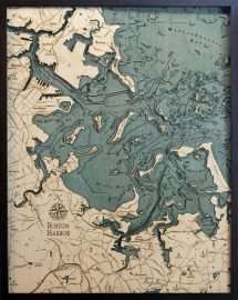 Bathymetric Map Boston Harbor, Massachusetts