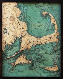 Bathymetric Map Cape Cod, Massachusetts