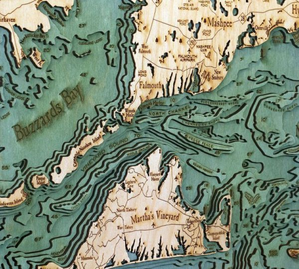 Bathymetric Map Cape Cod, Massachusetts