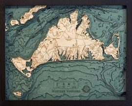 Bathymetric Map Marthas Vineyard, Massachusetts