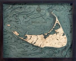 Bathymetric Map Nantucket Island, Massachusetts