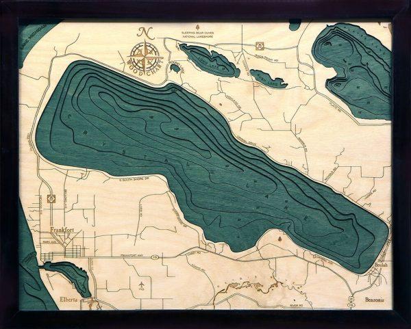 Bathymetric Map Crystal Lake, Michigan