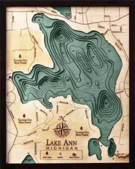 Bathymetric Map Lake Ann, Michigan