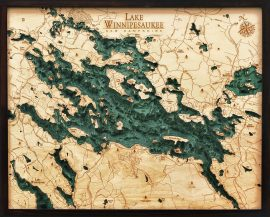 Bathymetric Map Lake Winnipesaukee, New Hampshire