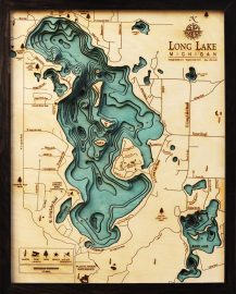 Bathymetric Map Long Lake, Michigan
