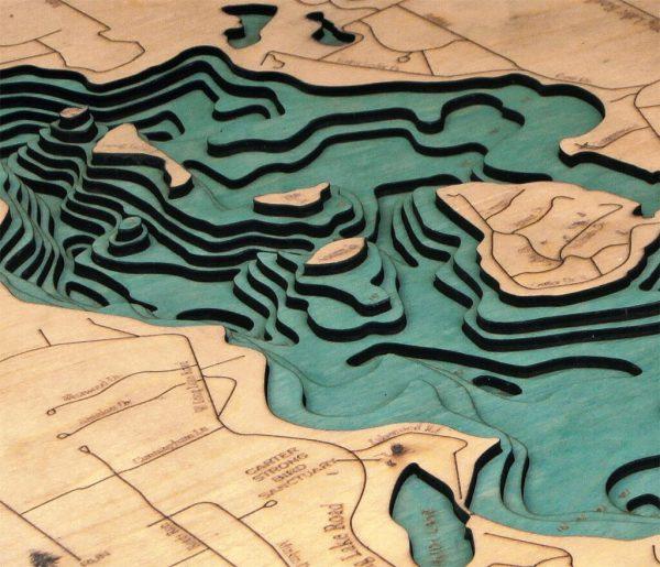 Bathymetric Map Long Lake, Michigan
