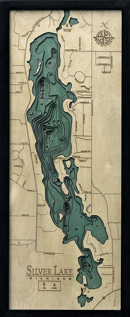Bathymetric Map Silver Lake, Michigan