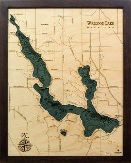 Bathymetric Map Walloon Lake, Michigan