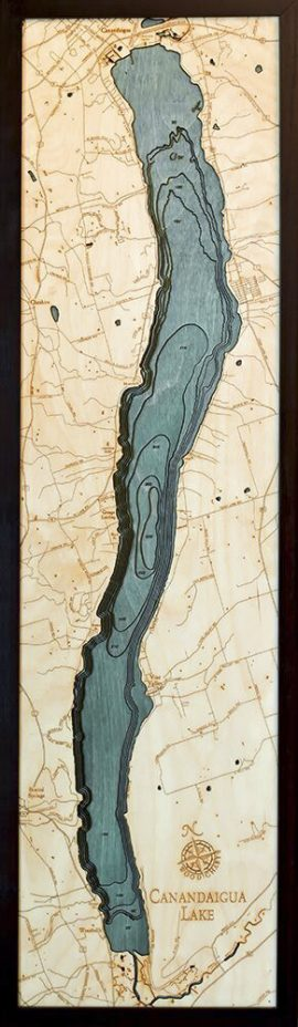 Bathymetric Map Canandaigua, New York